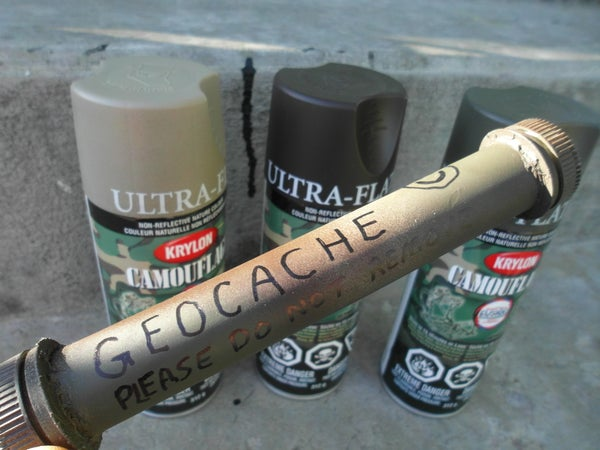 Build Your Own Geocache Waterproof Tube Container