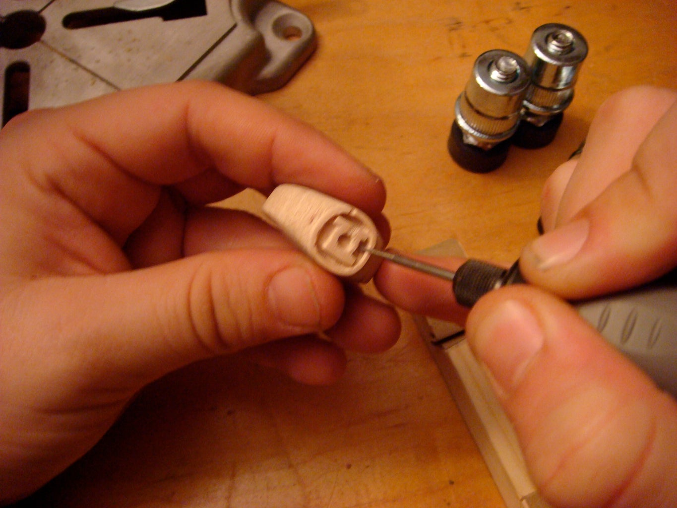 Carving the Logo