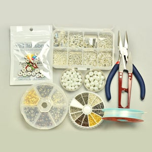 Supplies in Making the Pearl Bracelet With Rhinestone: