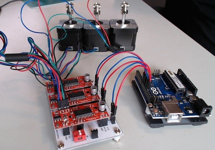 Connect EasyDriver Carrier Board to Arduino