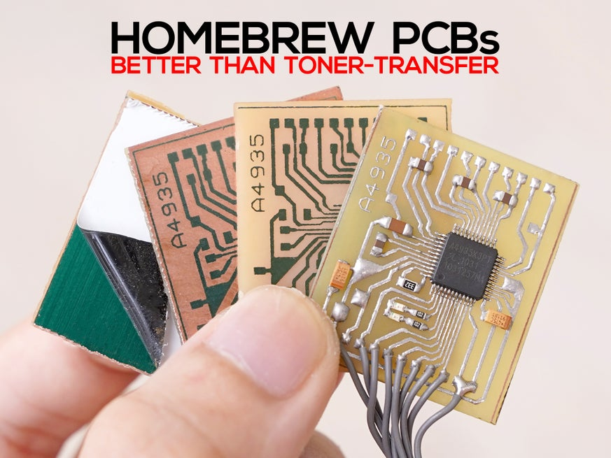 Single Sided Pcb Home Fabrication Presensitized Pcb 21 Steps With Pictures Instructables