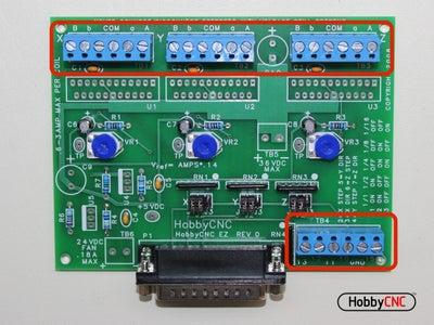 Install (4) 6 Position Terminal Blocks