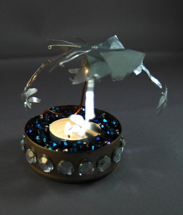 Spinning Sparkling Candle Carousel