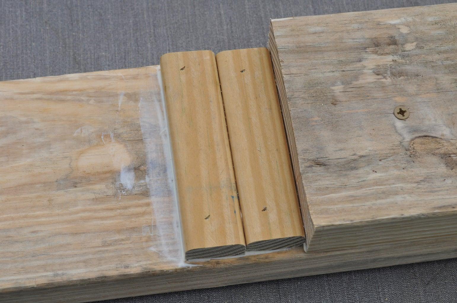 Glue and Nail Down the Furring Strip Half Steps