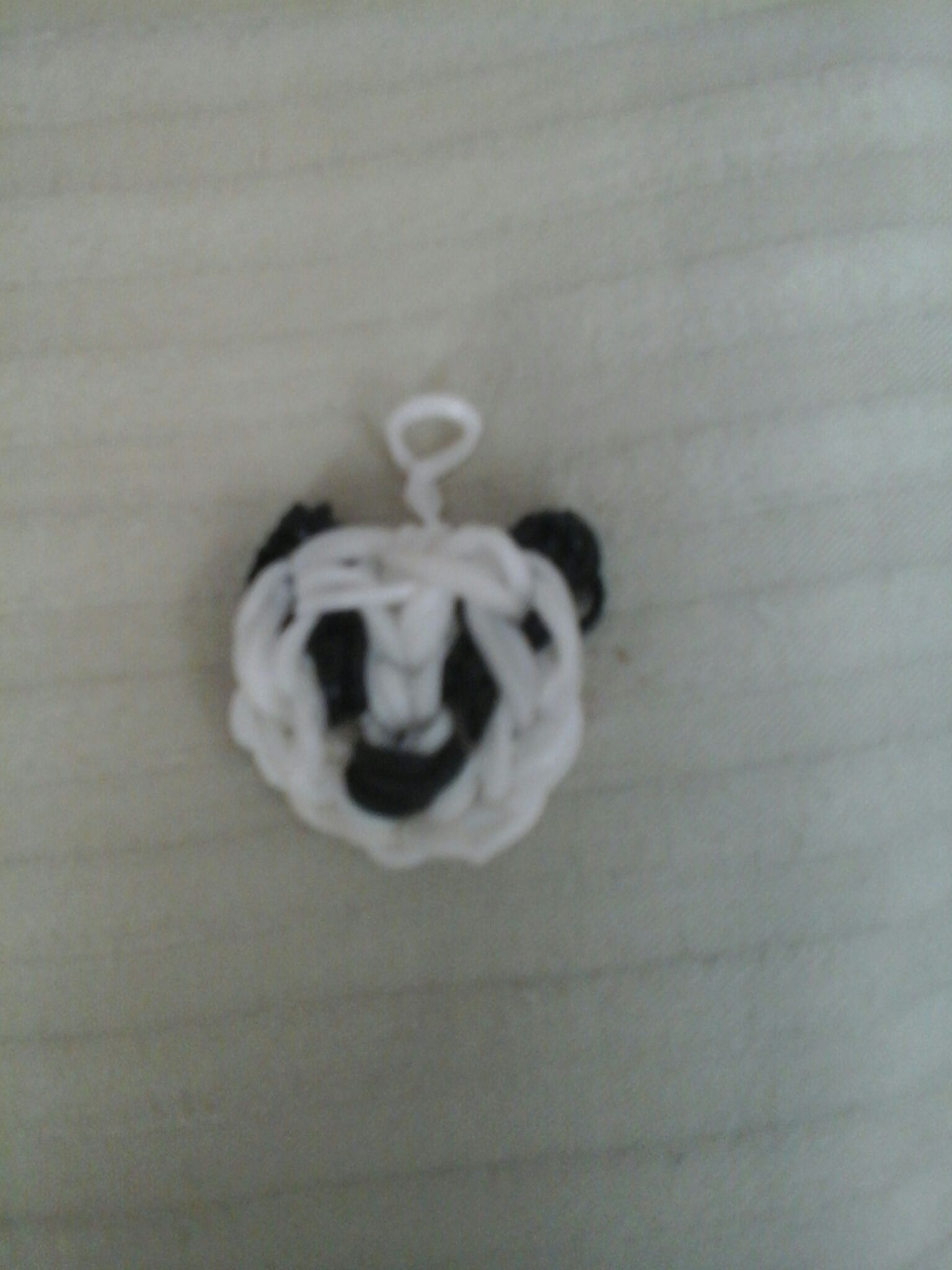 How to make a panda face loom charm