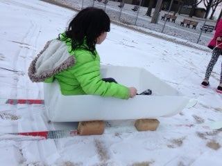 Ski Sled for Young Kids