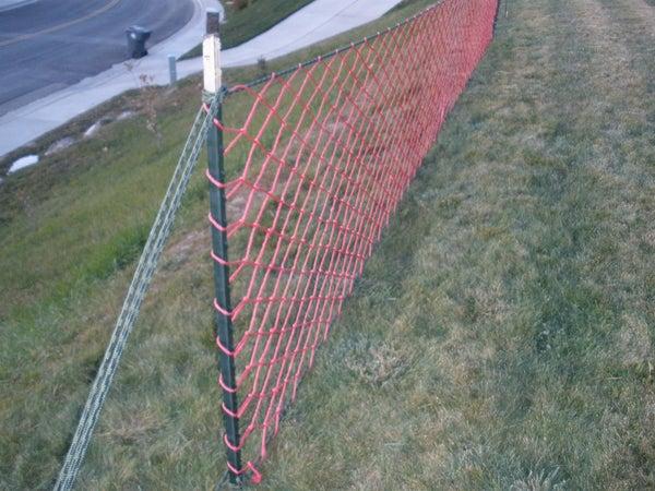 Safety Net for Snow Sledding
