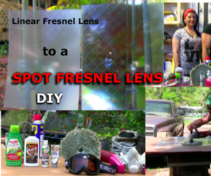 Projection Fresnel Lens Linear to Spot Conversion