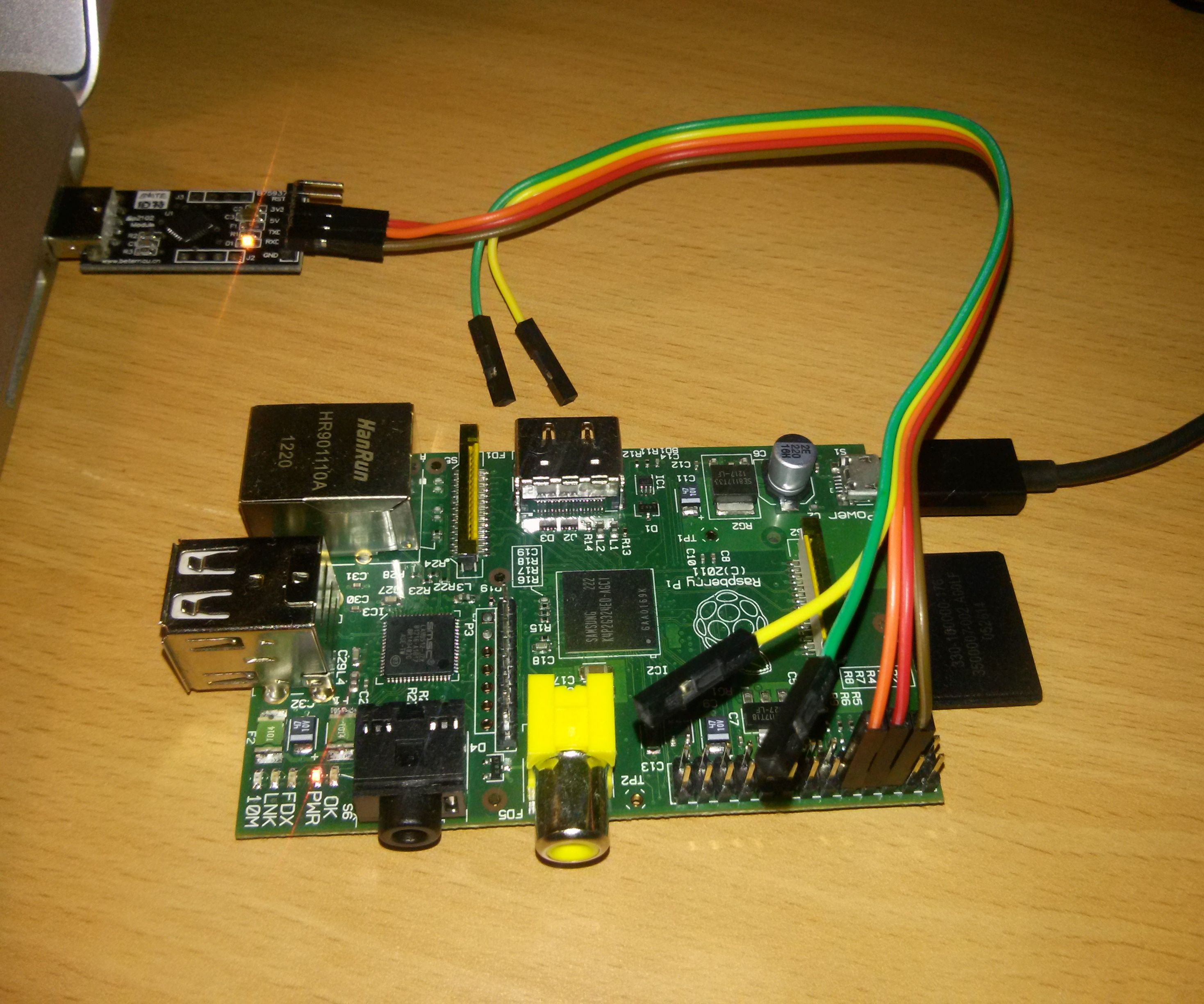 Connect the Raspberry Pi to network using UART