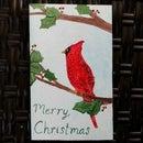 Mixed Media Christmas Card