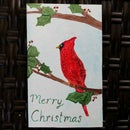 Mixed Media Christmas Card