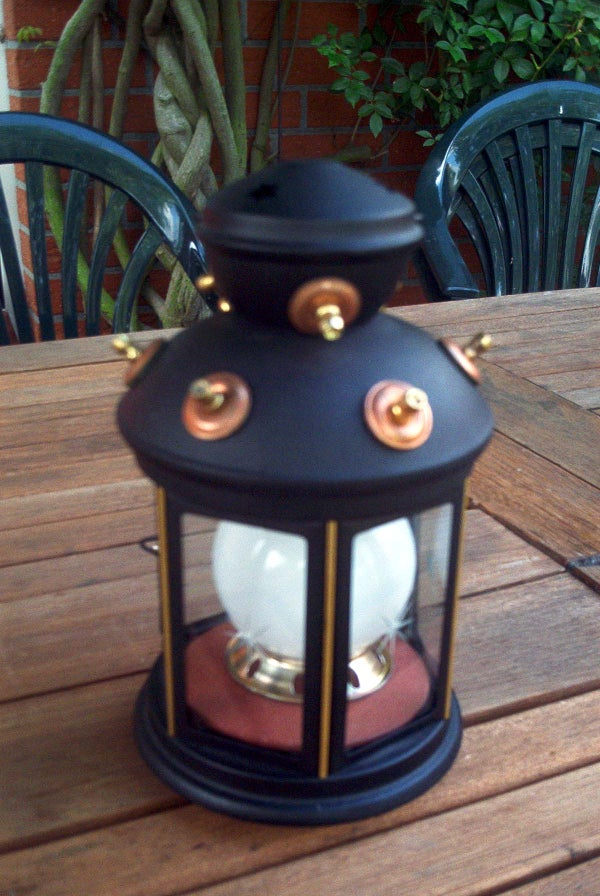 Steampunk Modified IKEA-Lamp for Camping
