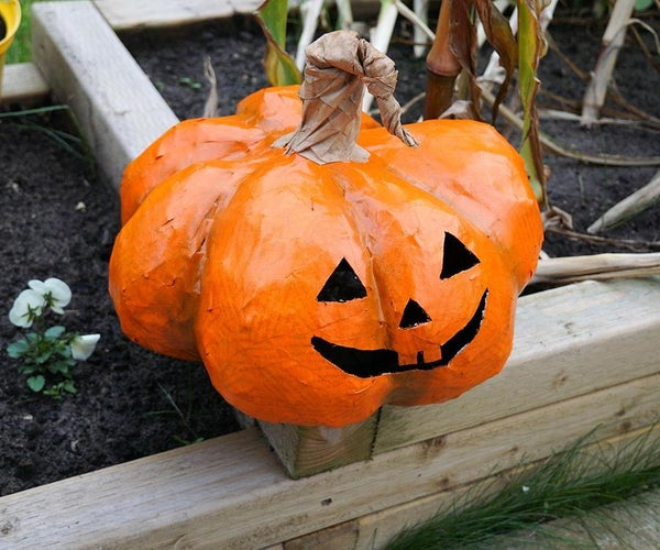 DIY Mod-Roc PUMPKIN !   How to Make a Large Halloween Prop