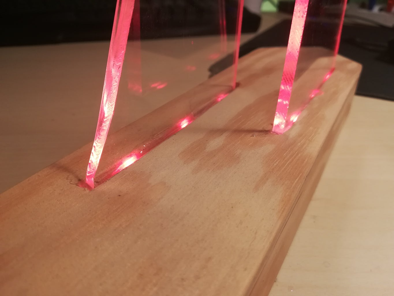 LED Plexiglass Light