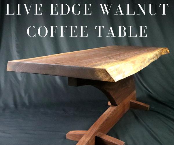 Live Edge Solid Walnut Coffee Table