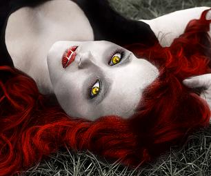 Pixlr Transformation: Vampire Babe