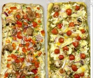 Easy, Super Cheesy Flatbread Pizzas