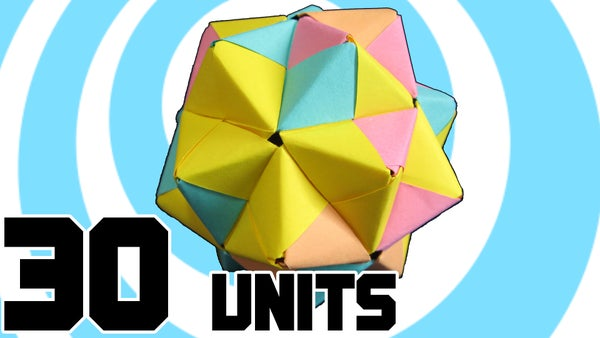 Modular Origami Icosahedron From 30 Sonobe Units