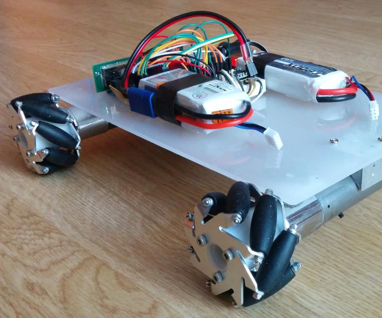 Mecanum wheel robot - bluetooth controlled