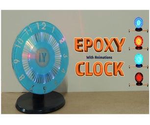 Epoxy Resin Led Clock