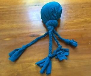 Dog Toy From Upcycled T-Shirt