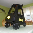 Pow! It's The Batmobile. And a bank?!