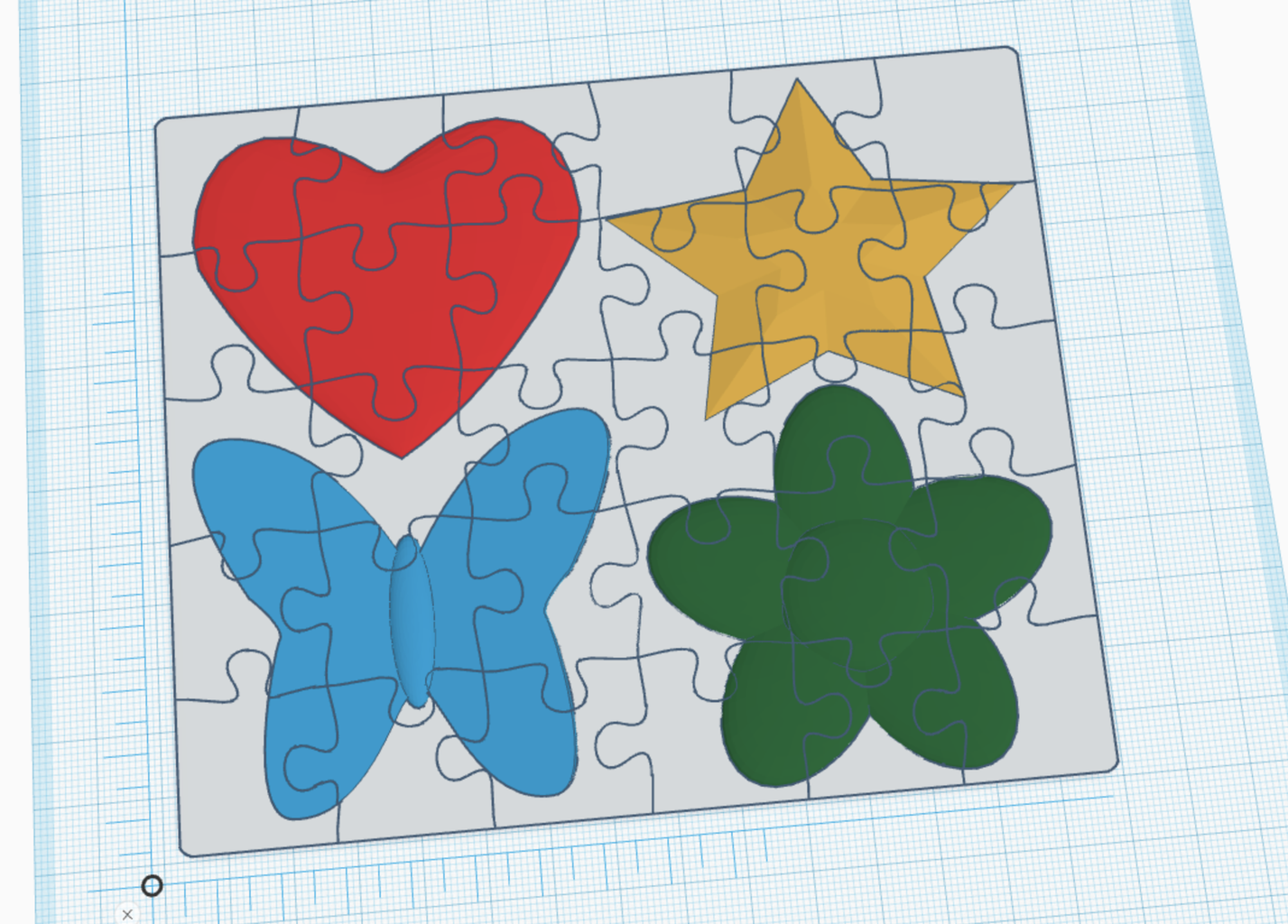 Duplicate Puzzle Cutout and Group