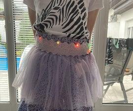 Fluorescent Tie on Skirt