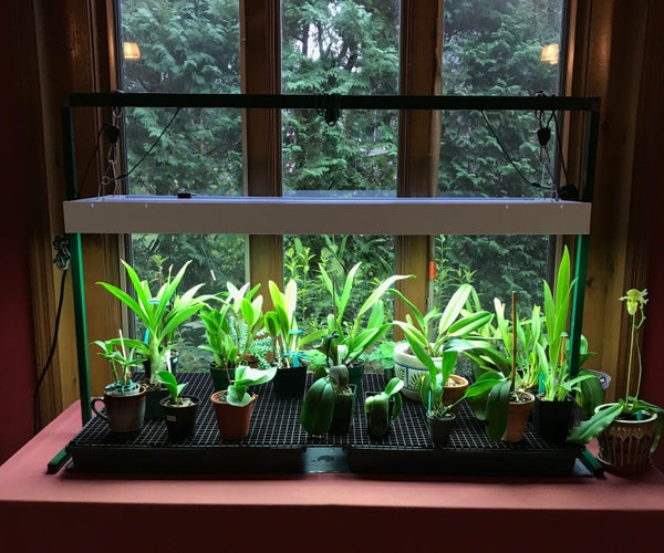 Orchid Greenhouse Table With Lights