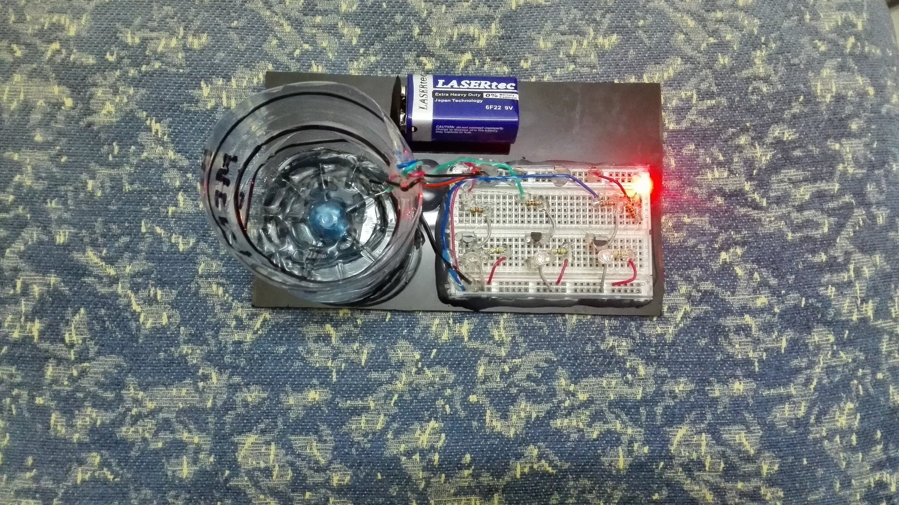 Project Powered With Battery (Red LED Indication Shows Its ON)