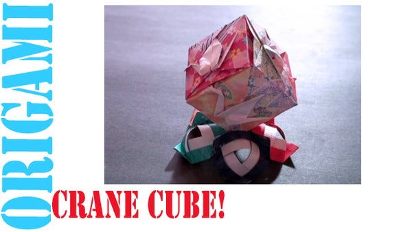 How to Make an Origami Peace Crane Cube!
