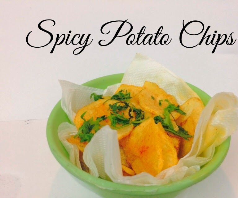 Homemade Spicy Potato Chips