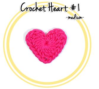 Crochet Heart #1 (medium)