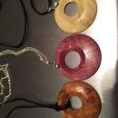 Offset Wooden Pendant