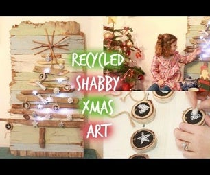 DIY Shabby Recycled Christmas Art