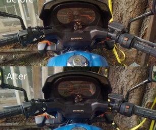 Straighten Bent Handlebar on Motorcycle