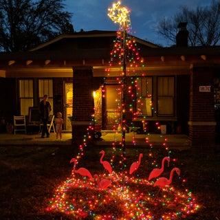 10 Ft Outdoor Christmas Light Tree Decoration