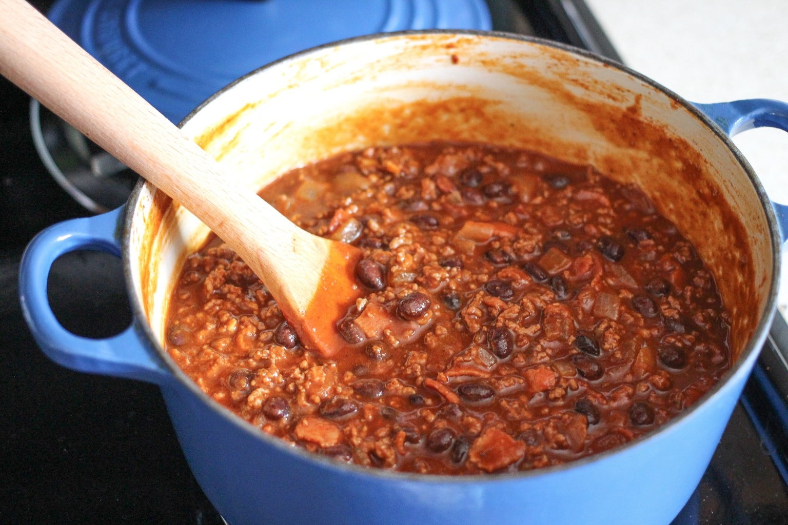 Add the Worcestershire Sauce and Simmer
