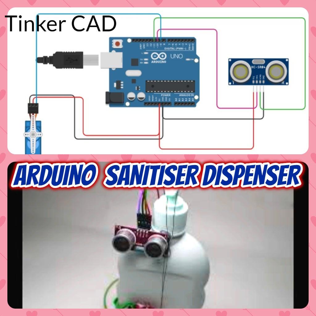 ARDUINO SANITIZER DISPENSER(Tinker CAD)