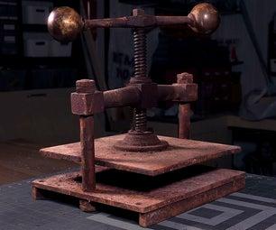 Restoring an Antique Book Press