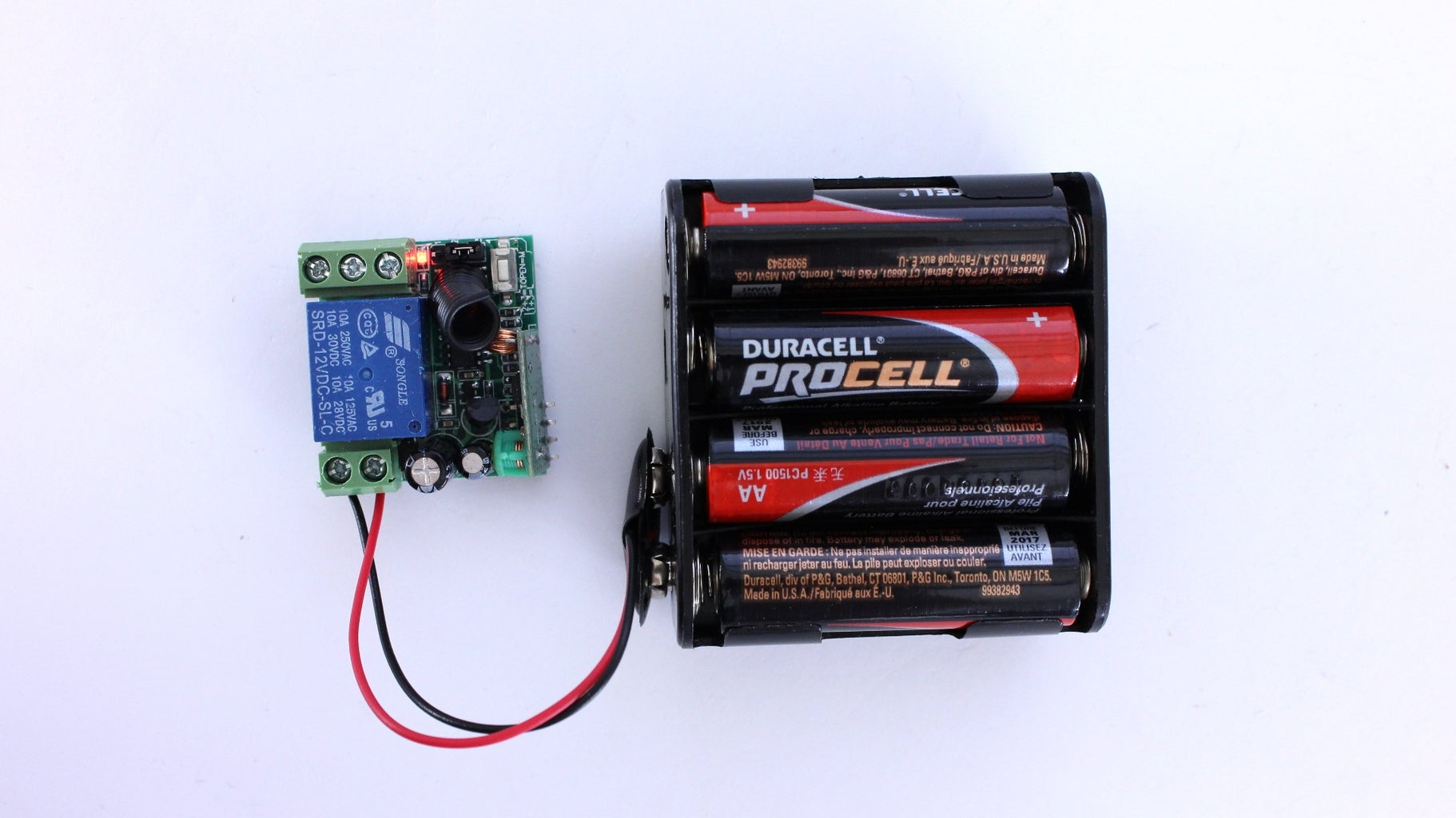 Connect the Battery Pack to the Relay