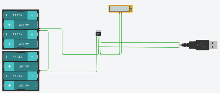 Power Bank Simulation (electrical Circuit and 3d Print)