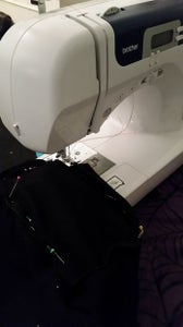 Sew the Flaps and Pocket Into Place