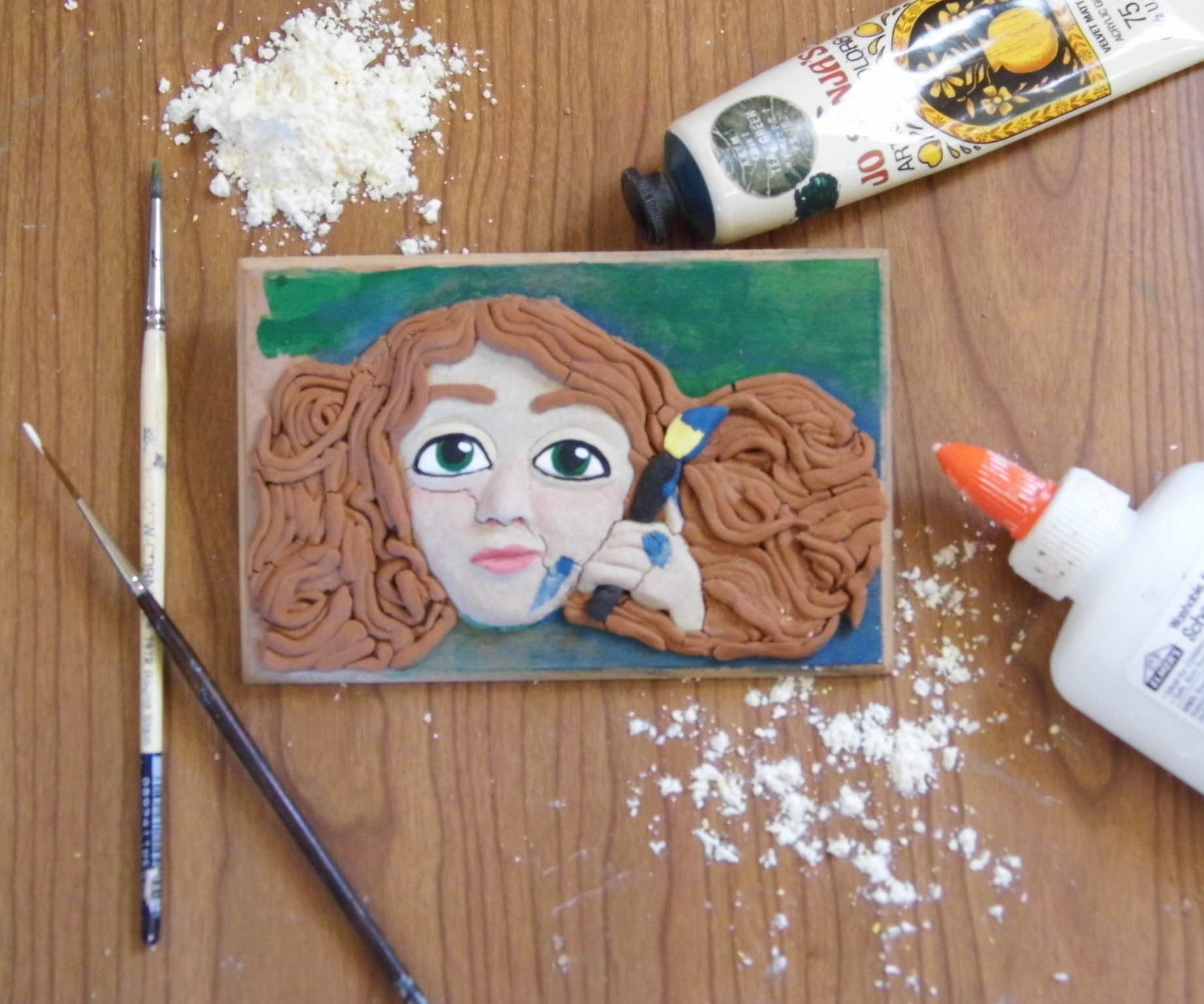 Homemade Clay with Paint