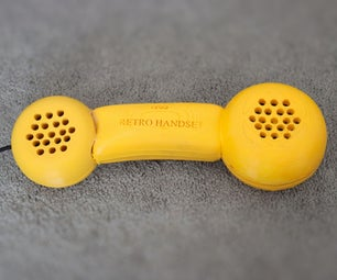 Yellow Retro Handset Rotary Phone (Made in Fusion 360)
