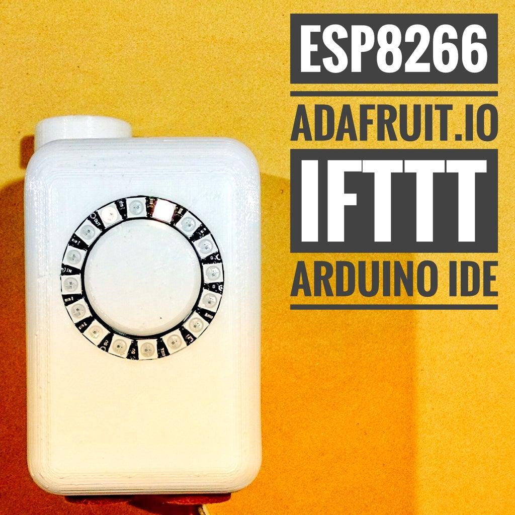 Minimalist IoT Clock (using ESP8266, Adafruit.io, IFTTT, and Arduino IDE)