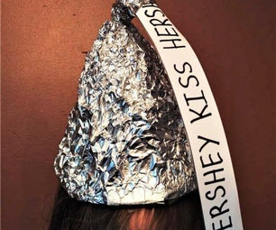 Funny Foil Hershey Kiss Hat