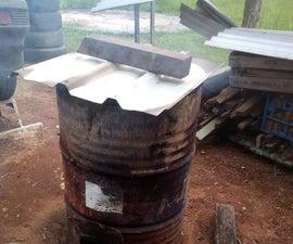 How I Make Biochar /Charcoal in a 44 Gallon Drum