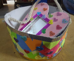 Heart Themed Gift Basket With a Mirror As a Gift