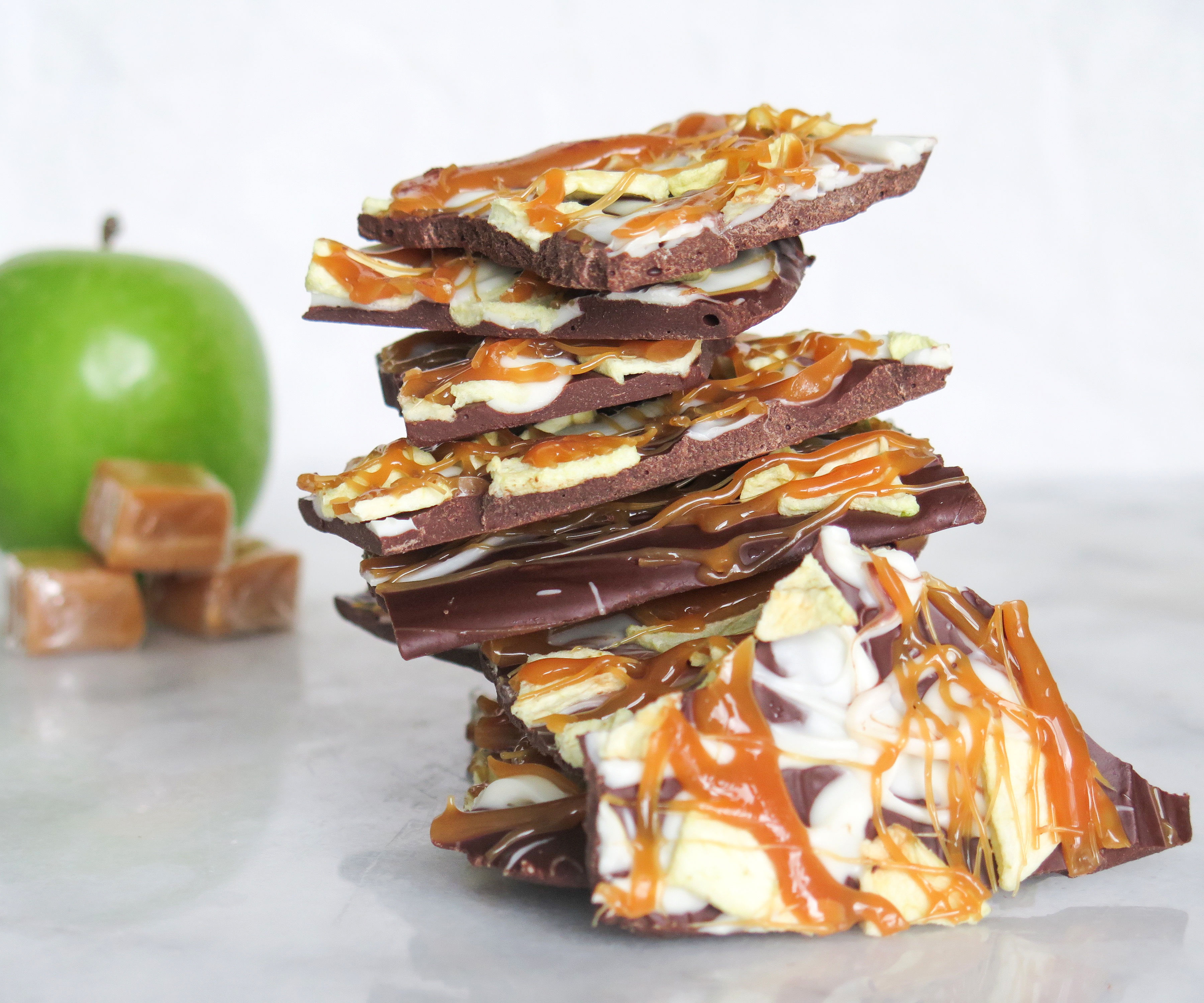 Caramel Apple Chocolate Bark